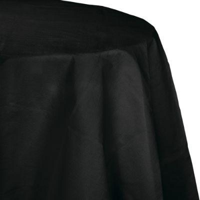 Jet Black Paper Round Tablecover 82