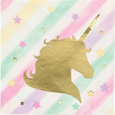 Unicorn Sparkle Beverage Napkin - 16 Pack