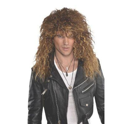 80S Brown Glam Rock Wig