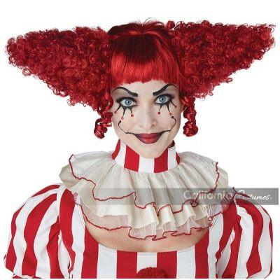 Creepy Clown Wig in Red