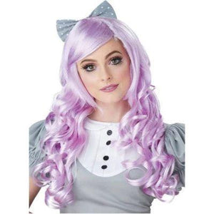 Curly Cosplay Doll Lavender Wig