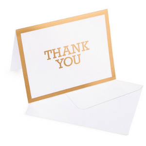 Gold Thank You Card - 10 Pack