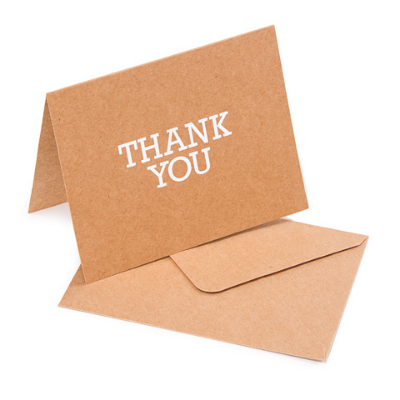 Kraft Thank You Card - 10 Pack