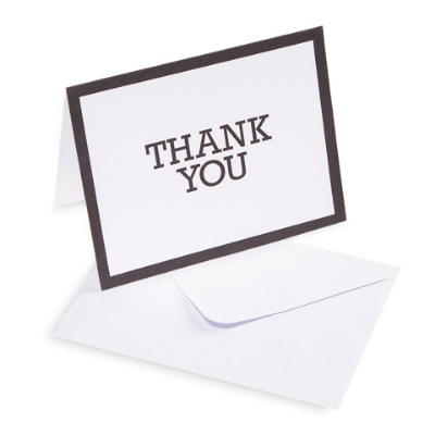 White Thank You Card - 10 Pack