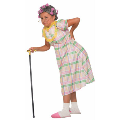 Old Lady Gertie Child Costume