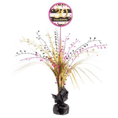 Pink & Gold 30 Centerpiece