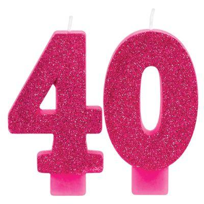40 Pink Candle - 2 Pack