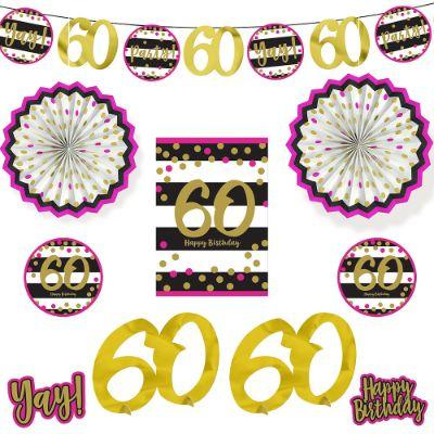 Pink & Gold 60 Decoration Kit Pk10