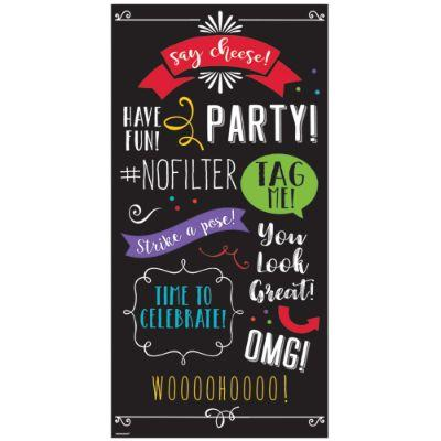 Photo Booth Backdrop Words Pk2