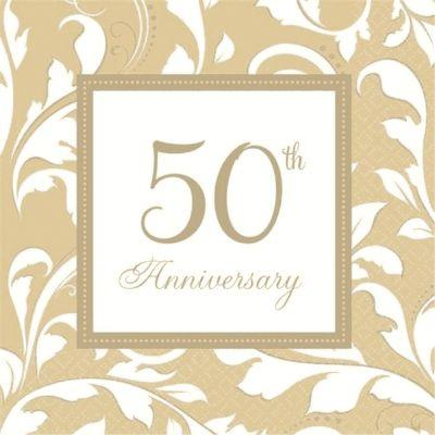 50th Anniversary Napkin
