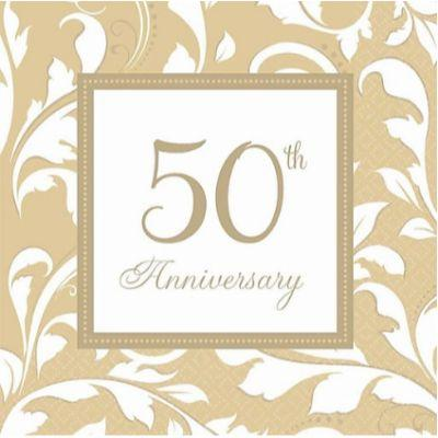 50th Anniversary Napkin Lunch