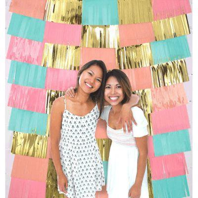 Pastel Gold Fringe Backdrop 60