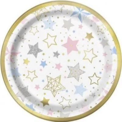 Twinkle Little Star Dessert Plates 8 Pack