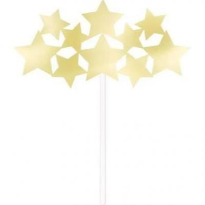 Twinkle Star Gold Cake Topper
