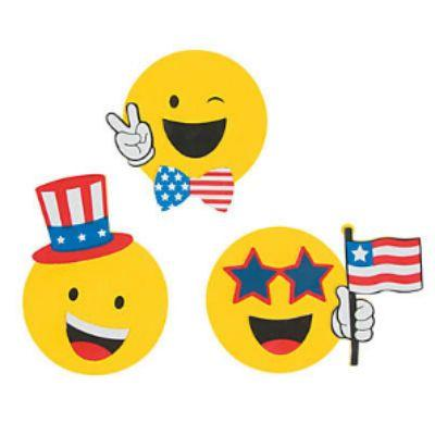 Emoji Patriotic Craft Kit - 12 Pack