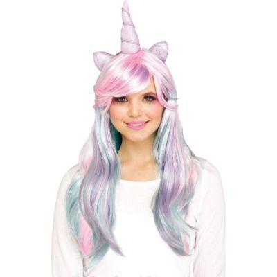Wig Unicorn Pastel with Horn