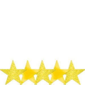 "Cutout Star Yellow 5"" Pk5"