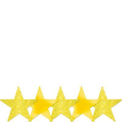 Cutout Star Yellow 5
