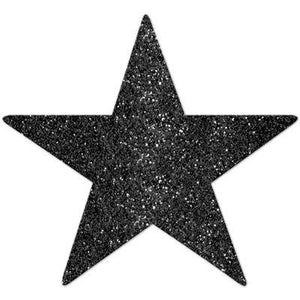 "Cutout Star Black 5"" Pk5"