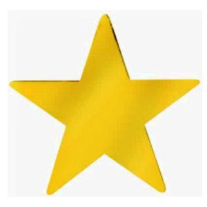 Cutout Star Gold 12""