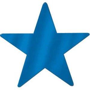 Cutout Star Blue 15""