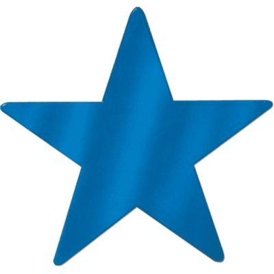 Cutout Star Blue 15
