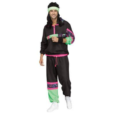 80s Mens Track Suit Adult Costume