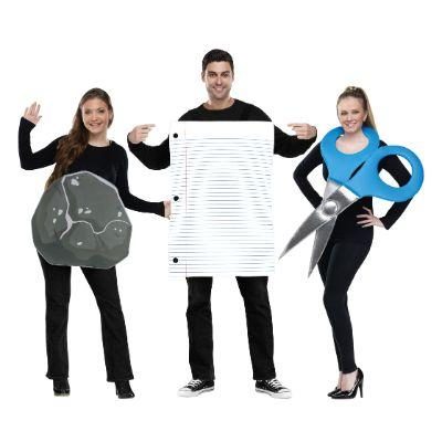 Rock, Paper, Scissors Group Costumes