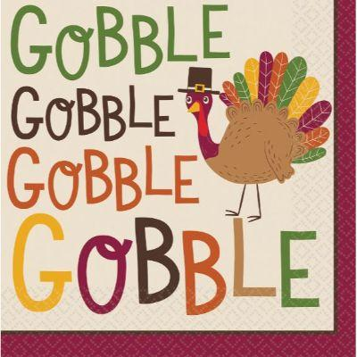 Gobble Gobble Luncheon Napkins - 36 Pack
