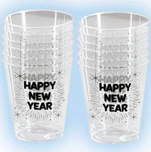 Happy New Year Shot Glasses 12 Pack