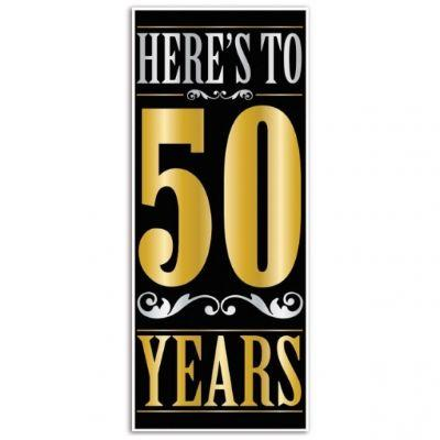 Heres To 50 Years Door Cover