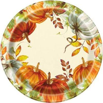 Watercolor Fall Dinner Plates - 8 Pack