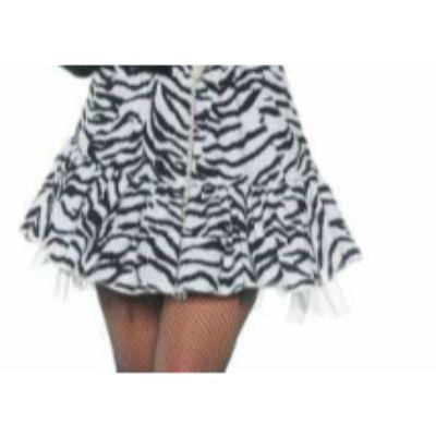 80S Zebra Print White Skirt