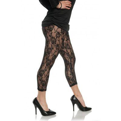 80s Black Lace Leggings