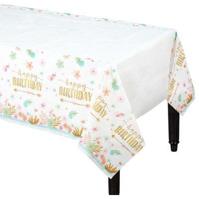 Boho Birthday Table Cover