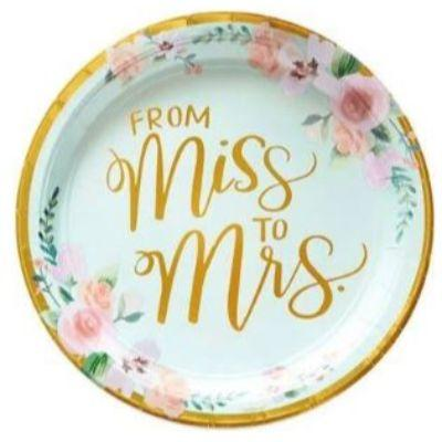 Mint To Be Floral Paper Dinner Plates 10