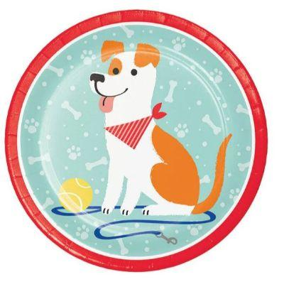 Dog Party Dinner Plate - 8 Pack