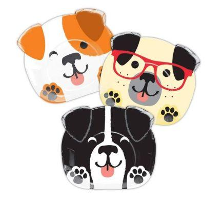 Dog Party Dessert Plate - 8 Pack