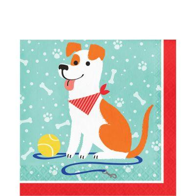 Dog Party Napkin Ln Pk16