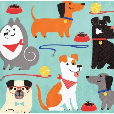 Dog Party Beverage Napkin - 16 Pack