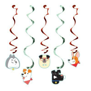 Dog Party Hanging Decoration - 5 Pack