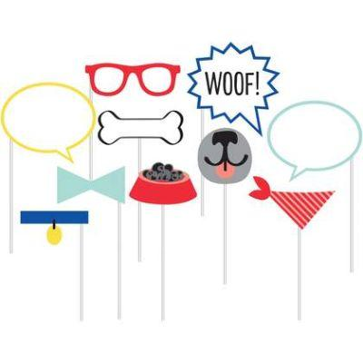 Dog Party Photo Prop - 10 Pack