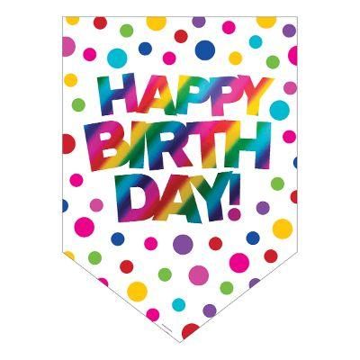 Rainbow Birthday Door Banner 3Ft