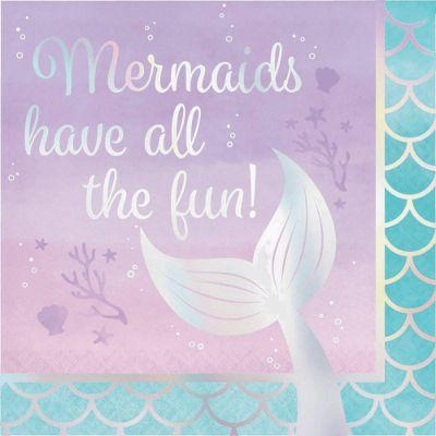 Mermaid Shine Napkin Lunch Pk16