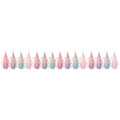 Iridescent Tassel Garland 8Ft