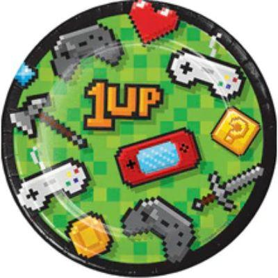 Gaming Party Plate Ds Pk8