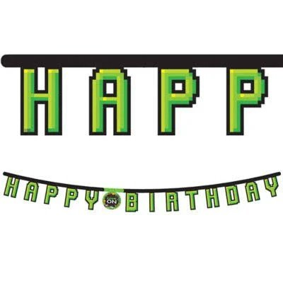 Gaming Party Birthday Banner 7Ft