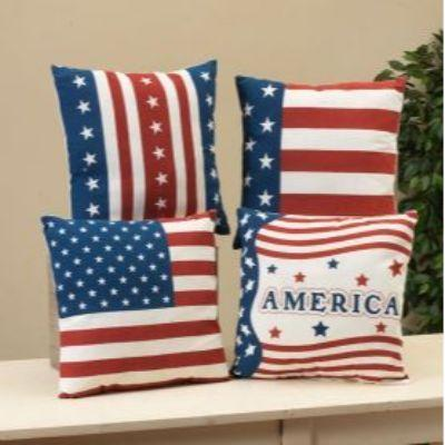 Americana Fabric Pillow 16