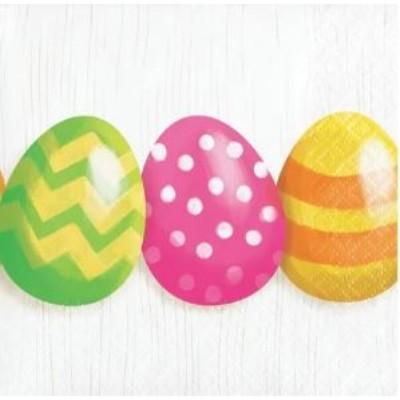 Easter Eggs Beverage Napkins - 16 Pack