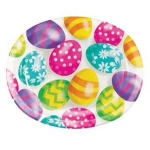 "Easter Eggs Oval Platters 12"" - 8 Pack"